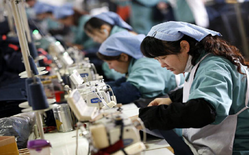Industria manufacturera china desciende en mayo